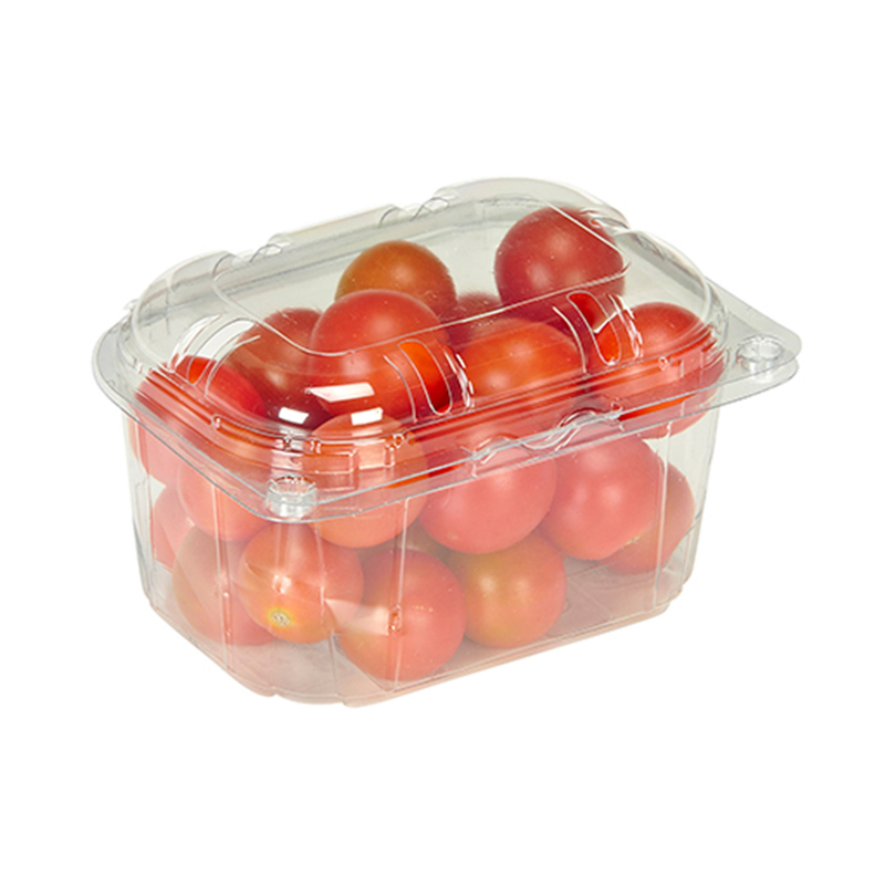 Small tomatoes and grapes clamshell